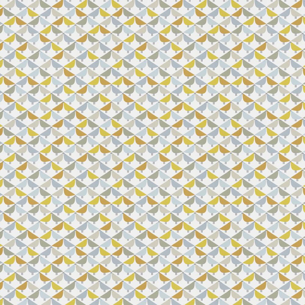 Lintu Wallpaper - Dandelion / Butterscotch / Pebble - by Scion