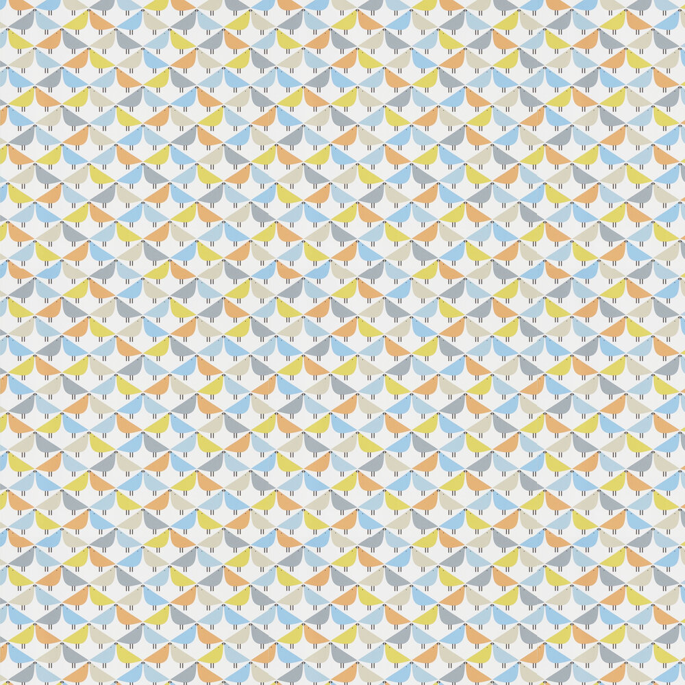 Scion Lintu Satsuma / Sky / Pebble Wallpaper - Product code: 111523