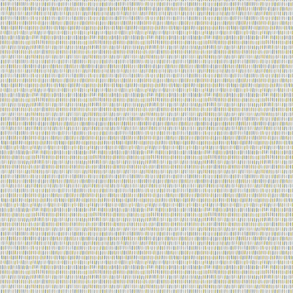 Tikku Wallpaper - Limeade / Hemp / Glacier - by Scion