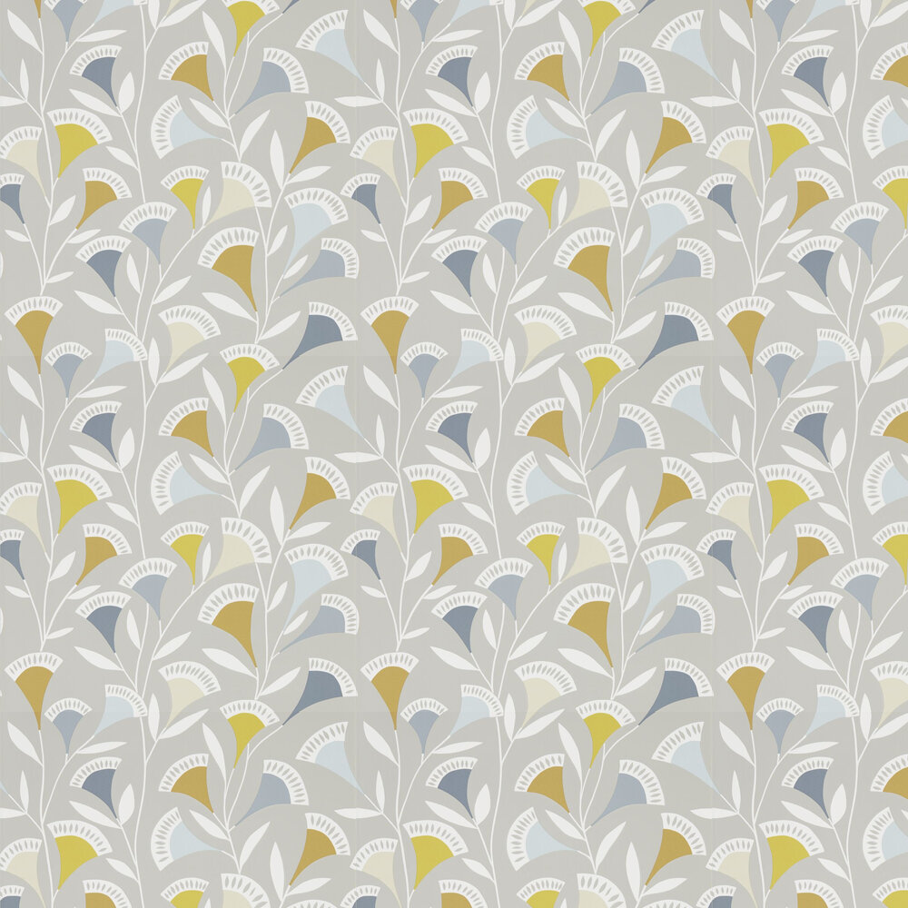 Noukku Wallpaper - Dandelion / Butterscotch / Charcoal - by Scion