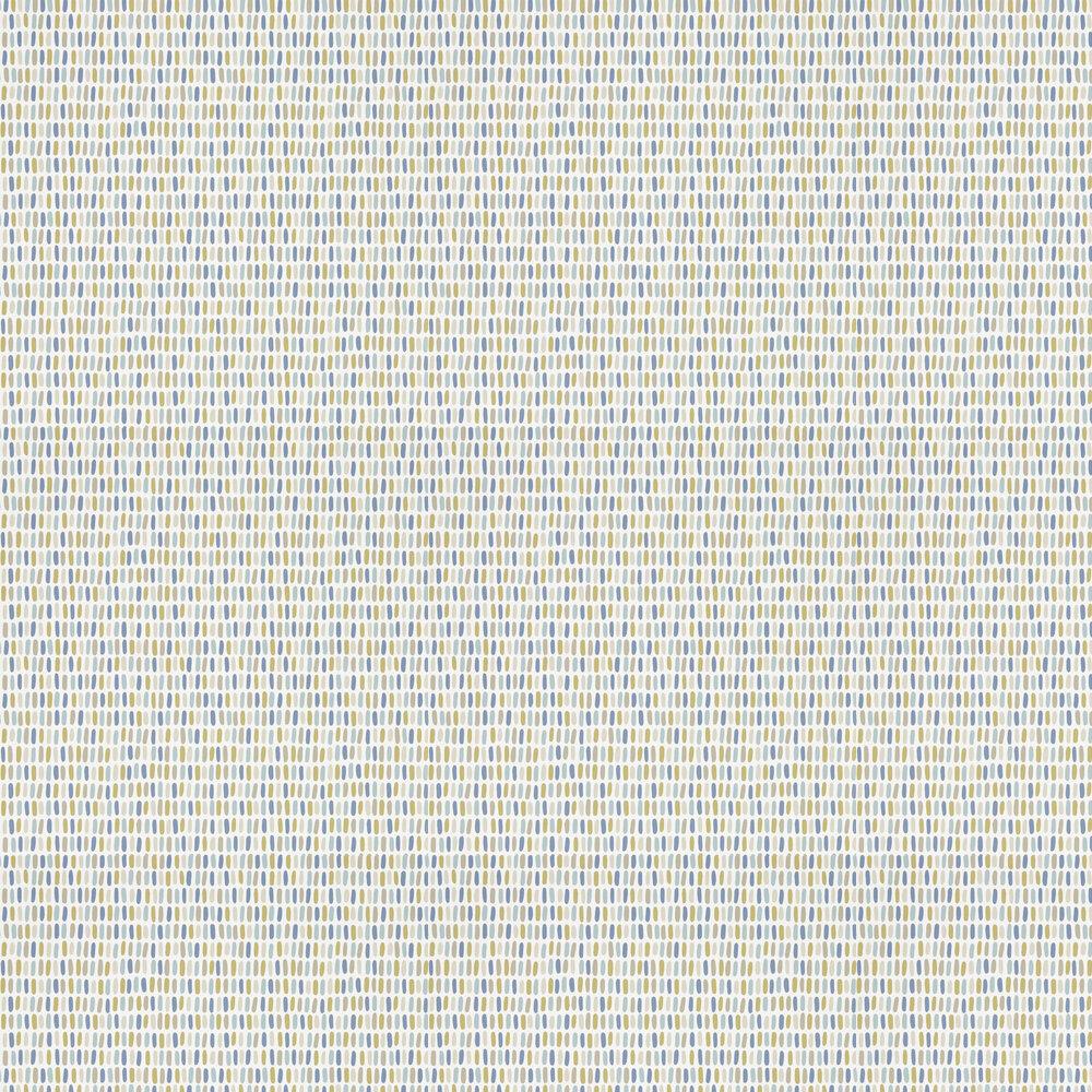Tikku Wallpaper - Cinnamon / Sky / Ink - by Scion
