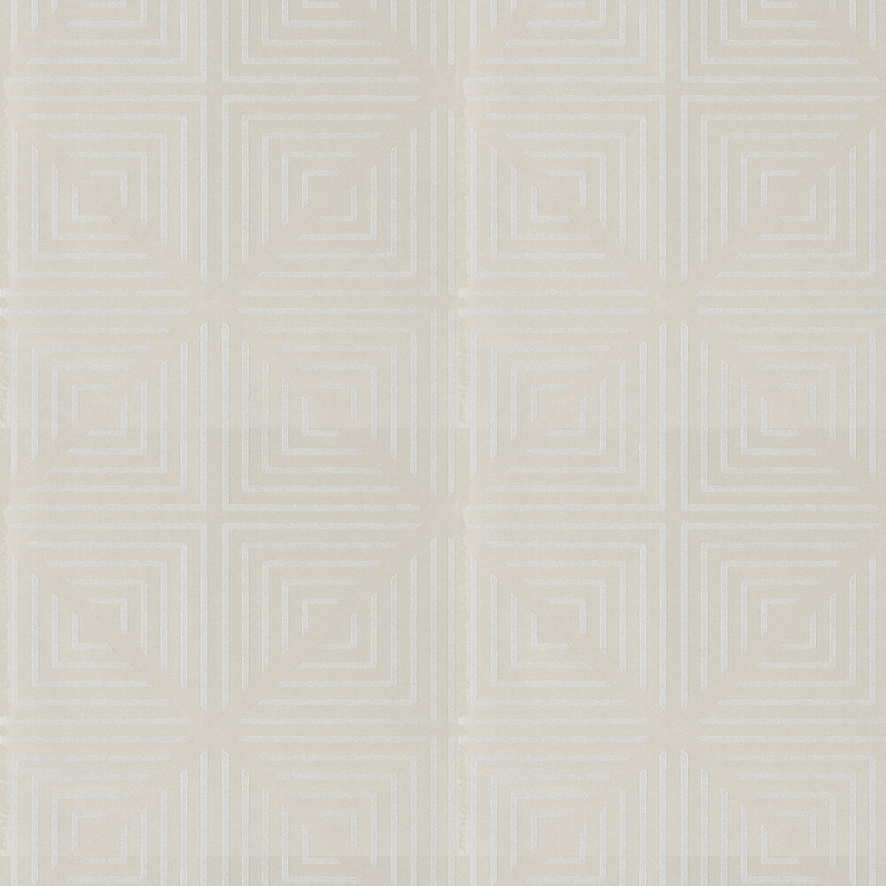 Radial Beaded Wallpaper - Oyster and Pearl - by Harlequin