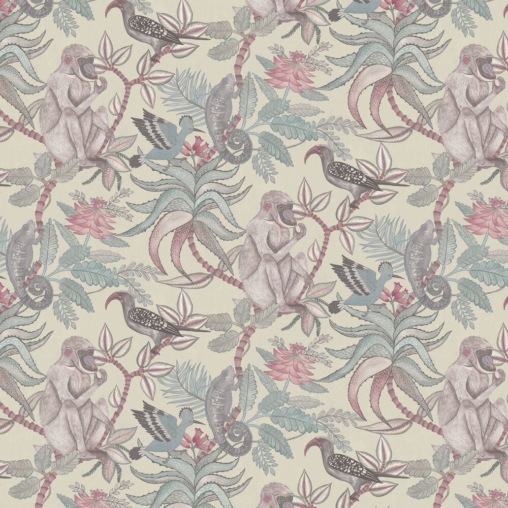 Savuti Wallpaper - Stone Neutral - by Cole & Son