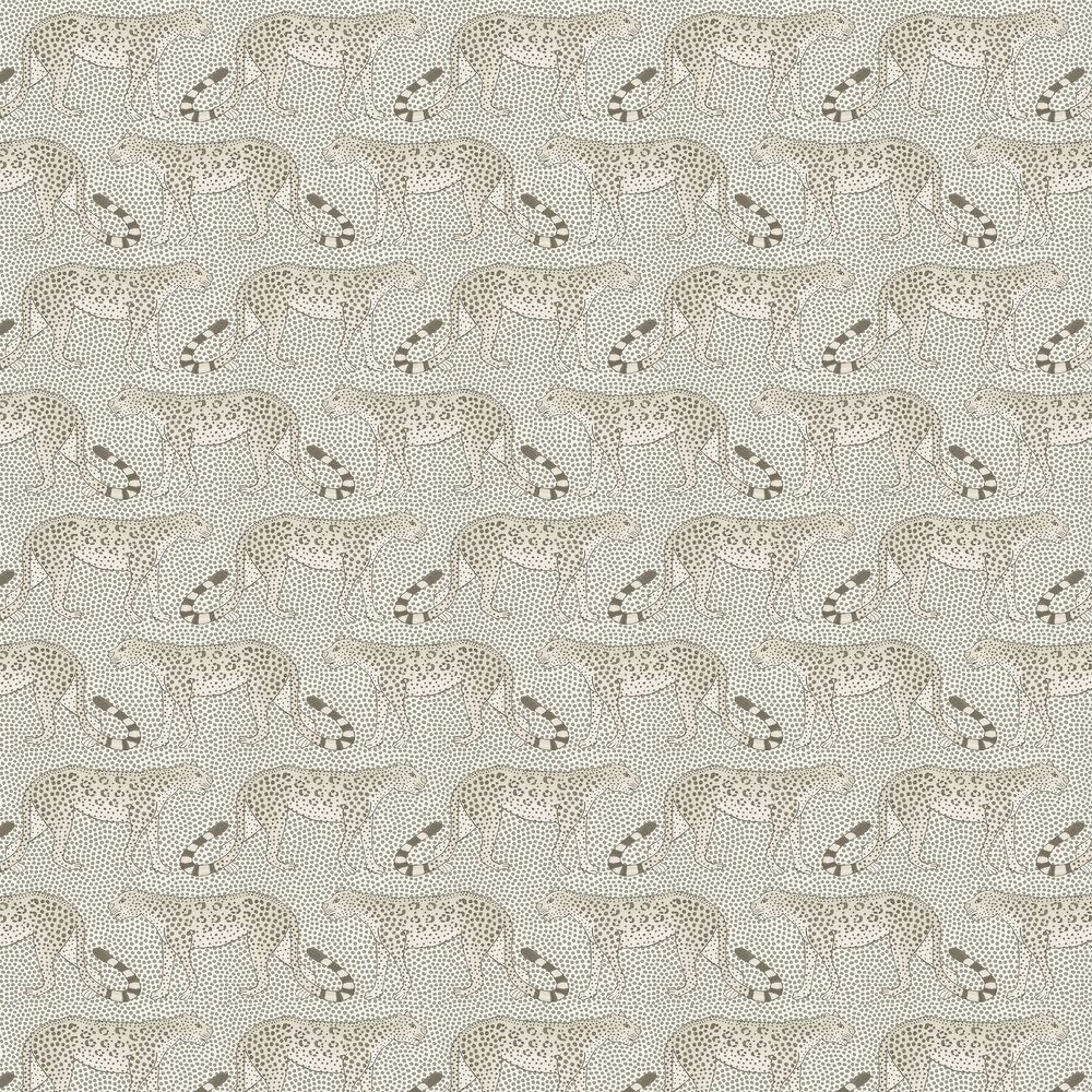 Leopard Walk Wallpaper - Black / White - by Cole & Son