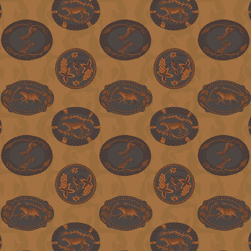 Matrinah Wallpaper - Ochre - by Cole & Son