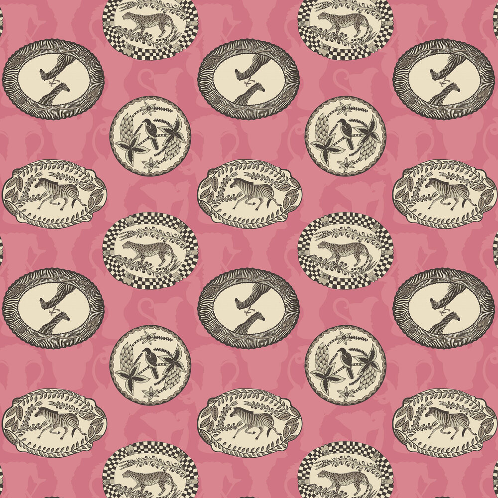 Matrinah Wallpaper - Pink - by Cole & Son