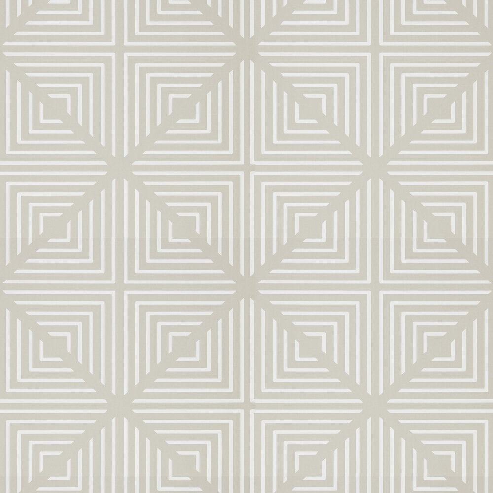 Radial Wallpaper - Linen and Chalk - by Harlequin