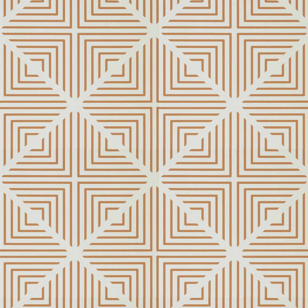 Radial Wallpaper - Pearl and Paprika - by Harlequin
