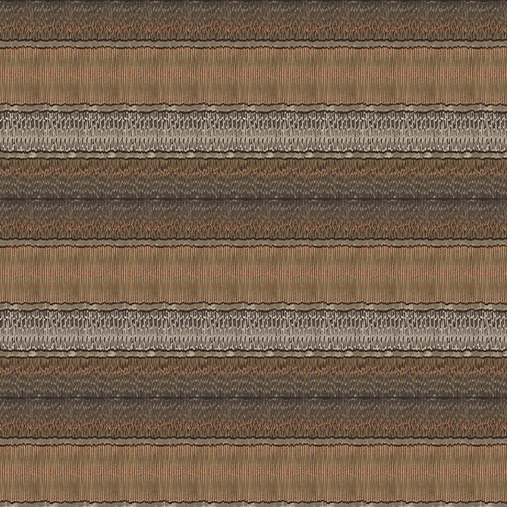 Cole & Son Ardmore Border Black / Burnt Orange Wallpaper - Product code: 109/5026