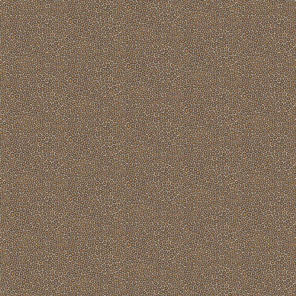 Senzo Spot Wallpaper - Brown / Gold - by Cole & Son