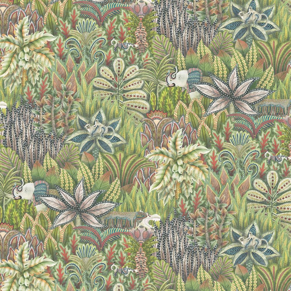 Singita Wallpaper - Green - by Cole & Son