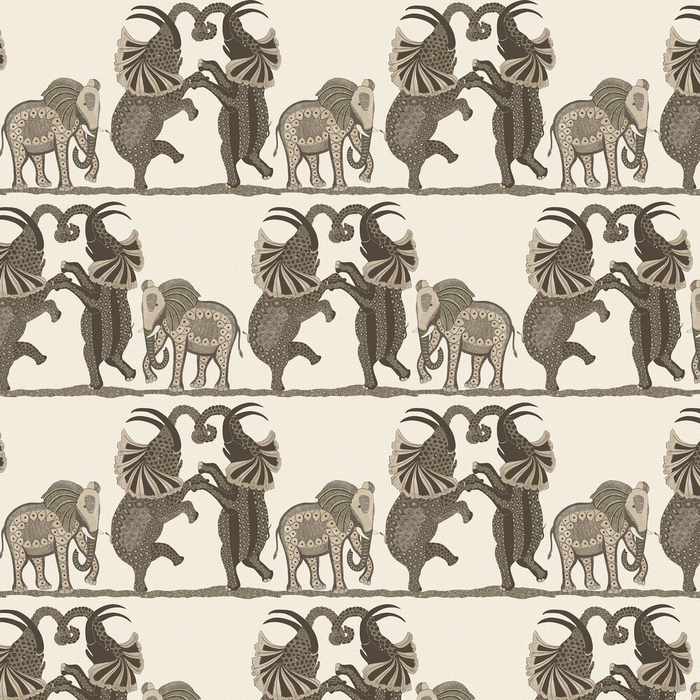 Cole & Son Safari Dance Neutral / Charcoal Wallpaper - Product code: 109/8036