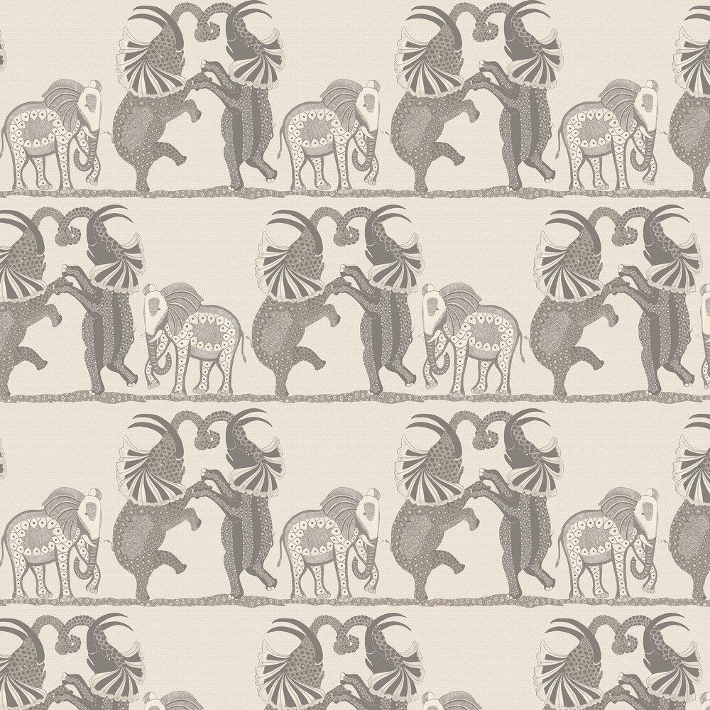 Safari Dance Wallpaper - Pale Stone / Grey - by Cole & Son