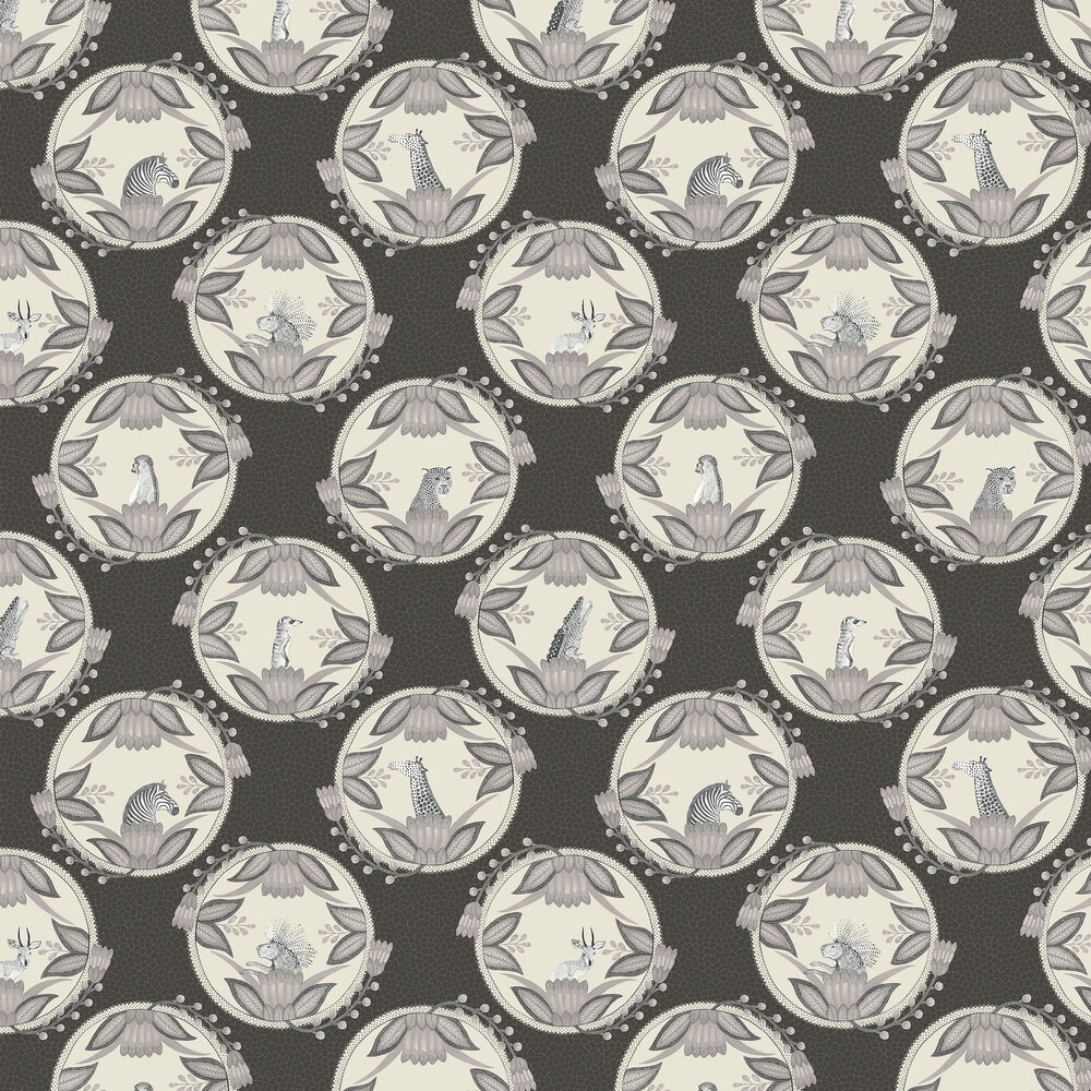 Cole & Son Ardmore Cameos Black / White Wallpaper - Product code: 109/9043