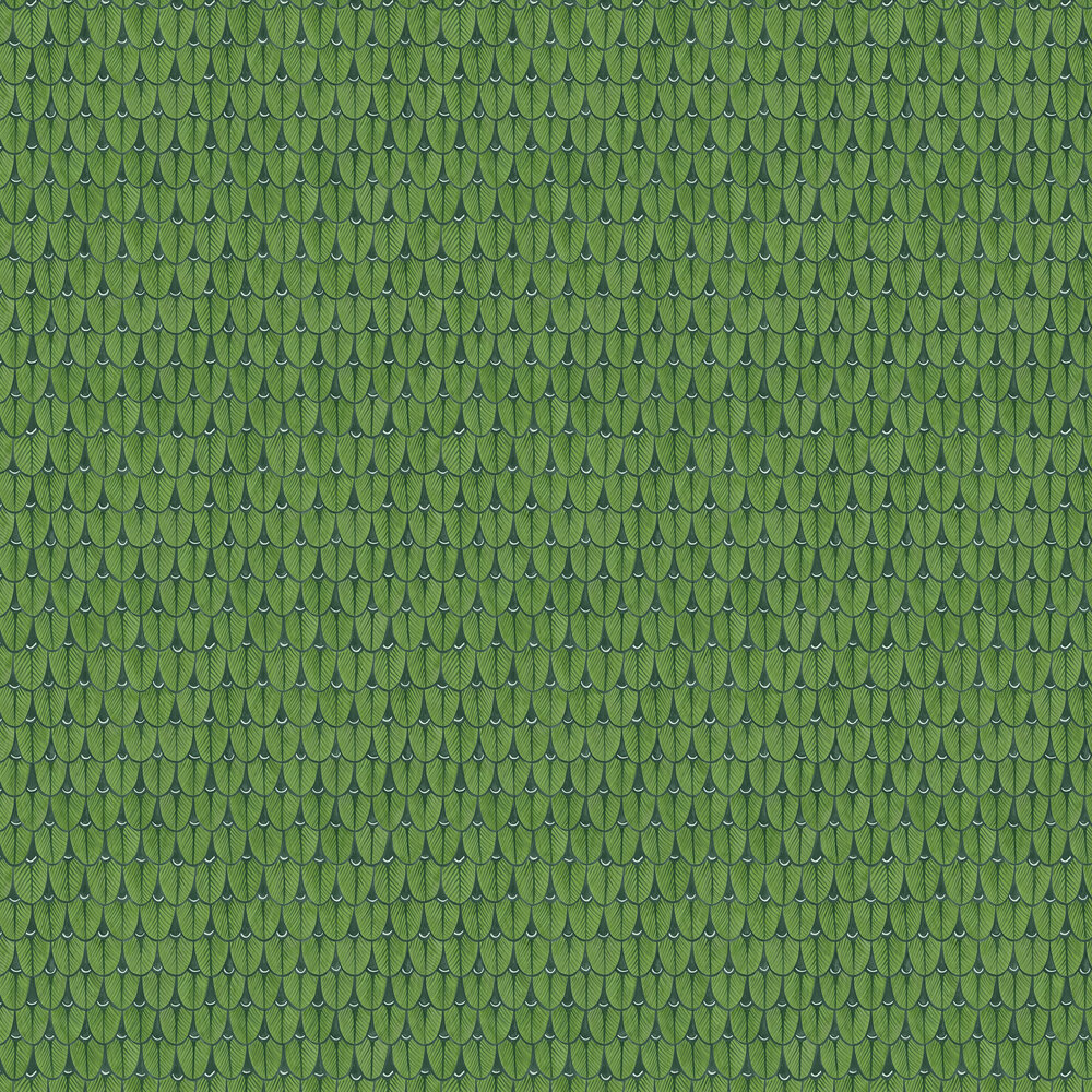 Narina Wallpaper - Leaf Green - by Cole & Son