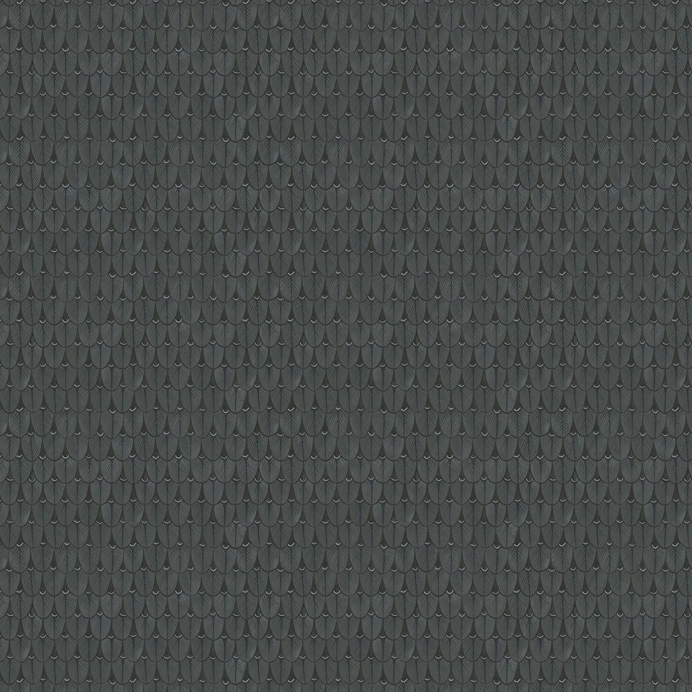Narina Wallpaper - Charcoal - by Cole & Son