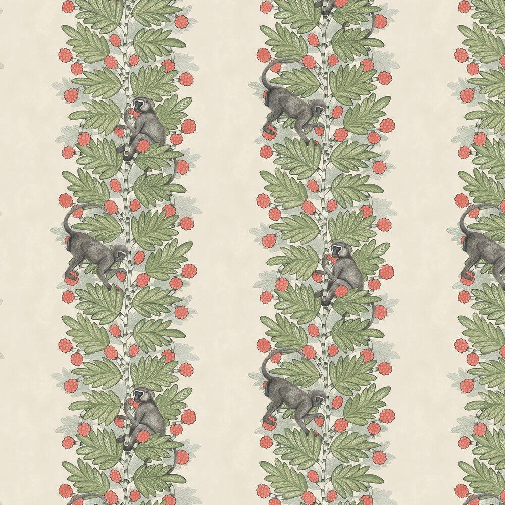 Cole & Son Acacia Green & Coral Wallpaper - Product code: 109/11051