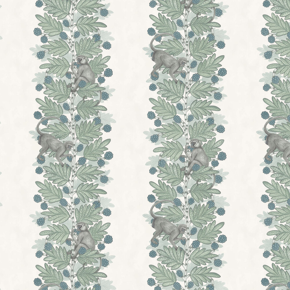 Cole & Son Acacia Blue & Green Wallpaper - Product code: 109/11052