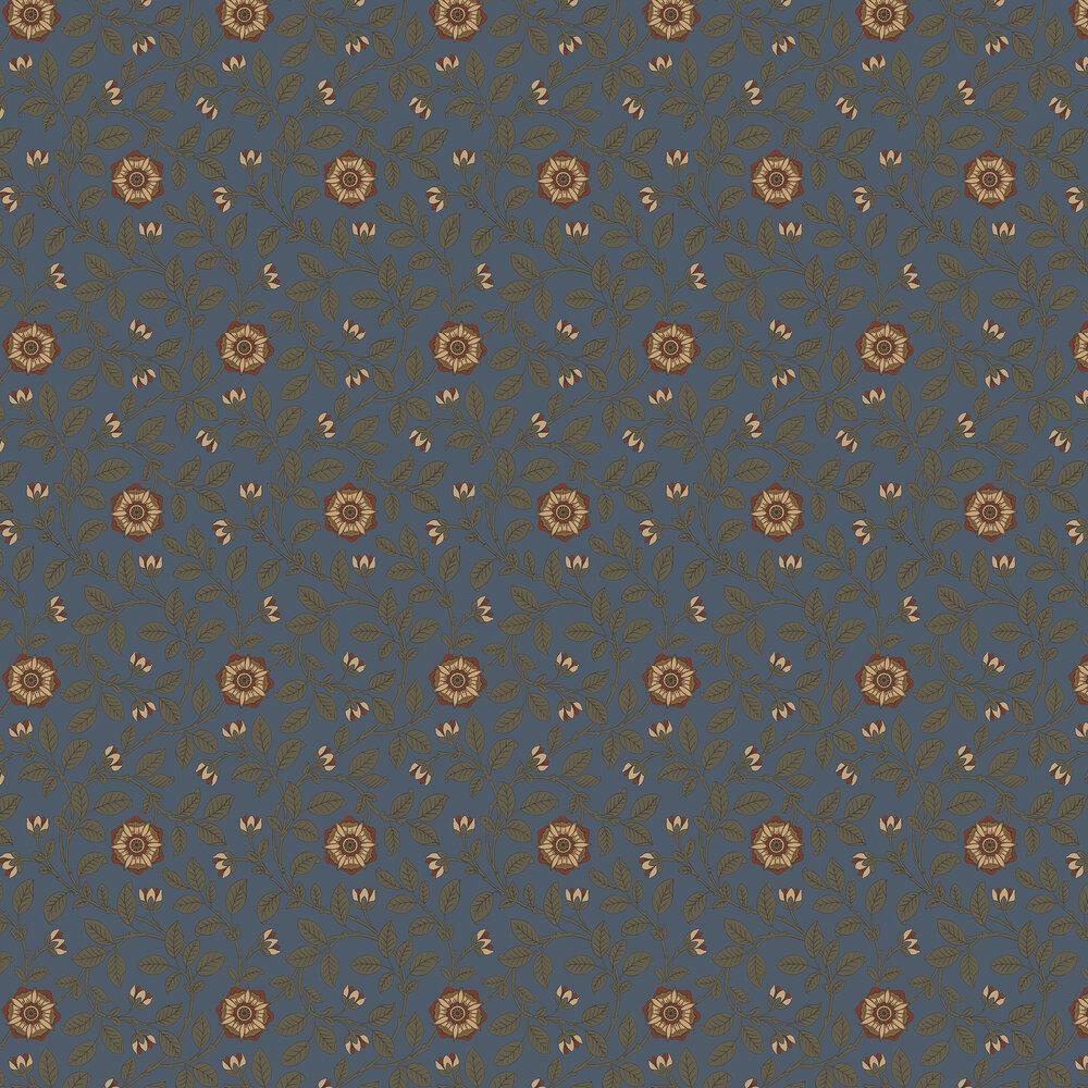 Richmond Green Wallpaper - Revival Blue - by Little Greene