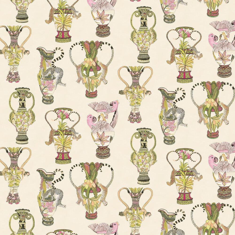 Khulu Vases Wallpaper - Cream & Multi - by Cole & Son