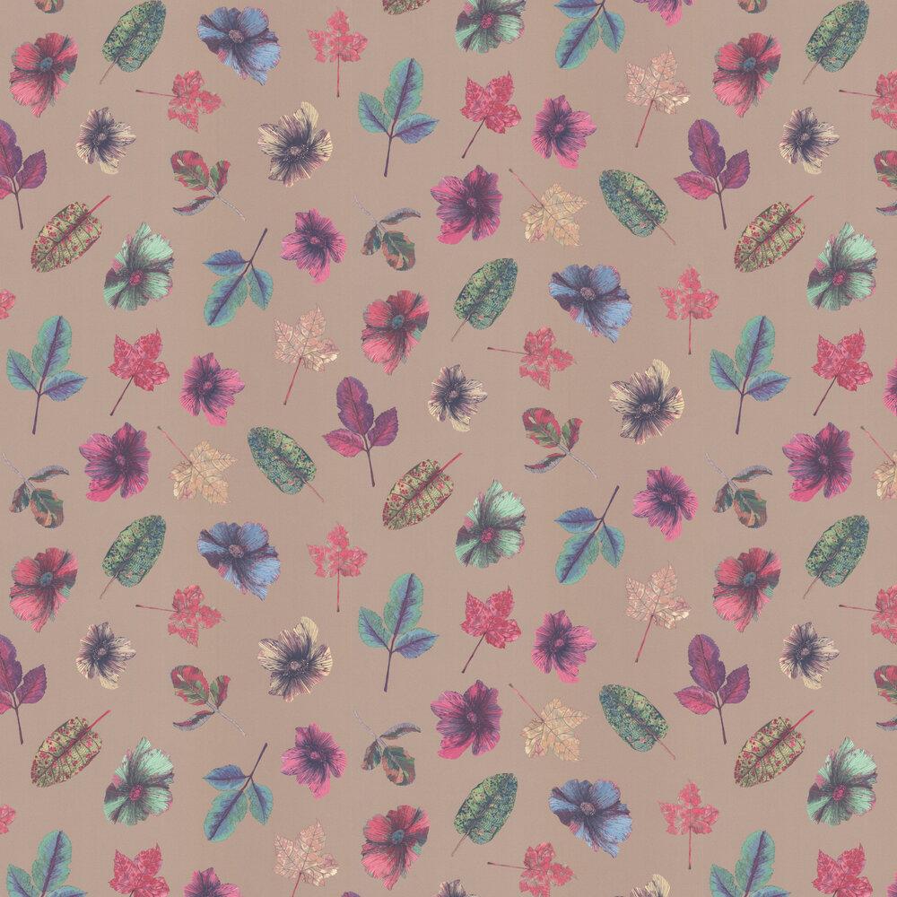 Woodland Wallpaper - Jade / Blue / Pink /Rose Gold - by Osborne & Little