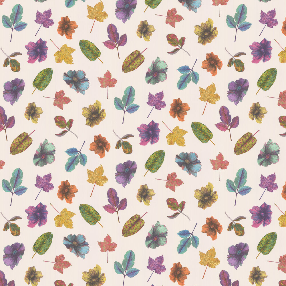 Woodland Wallpaper - Multi / Ivory - by Osborne & Little