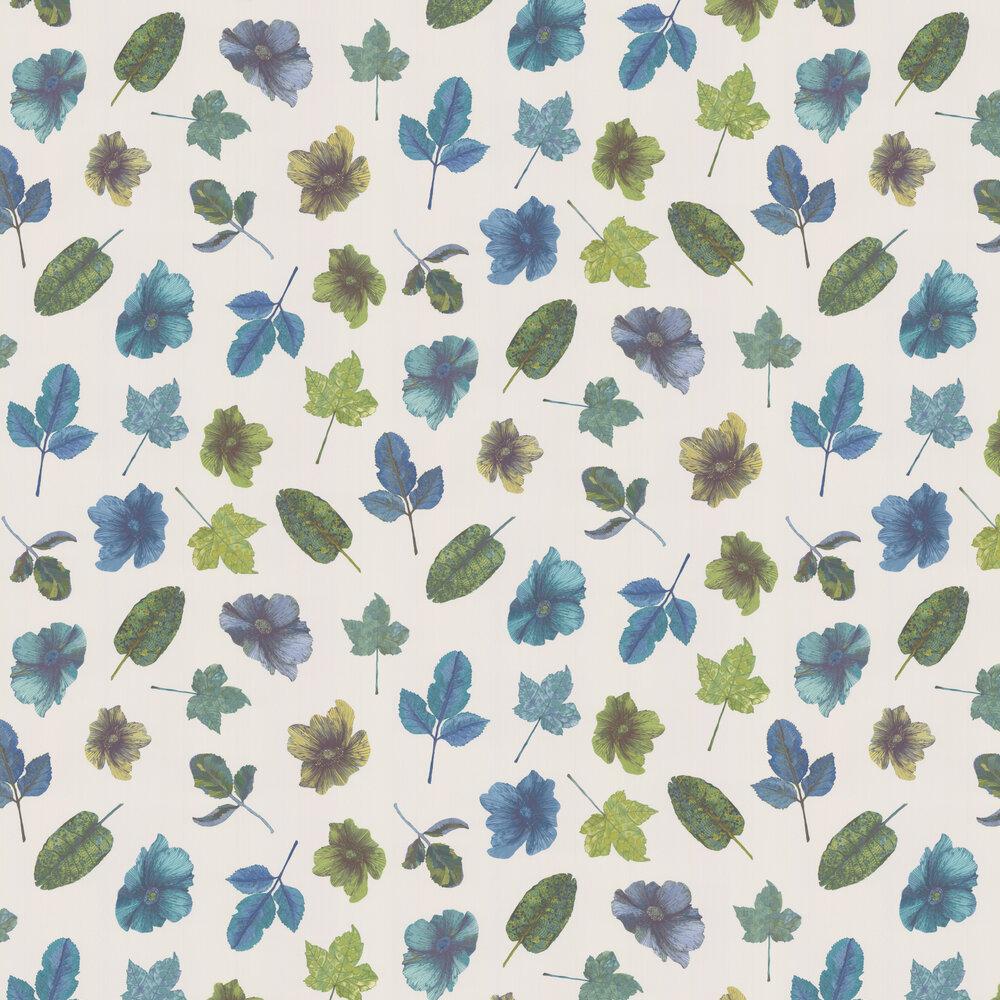 Woodland Wallpaper - Blue / Teal / Apple / Stone - by Osborne & Little