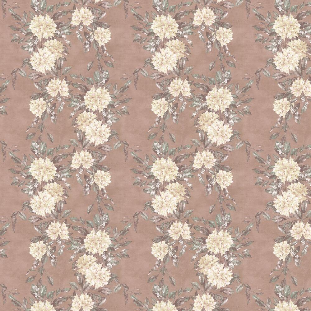 Rhodora Wallpaper - Cream / Sage / Rose Gold - by Osborne & Little