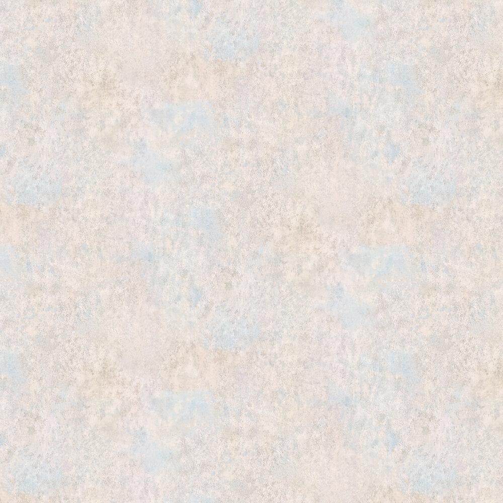 Fresco Wallpaper - Stone / Pale Blue - by Osborne & Little
