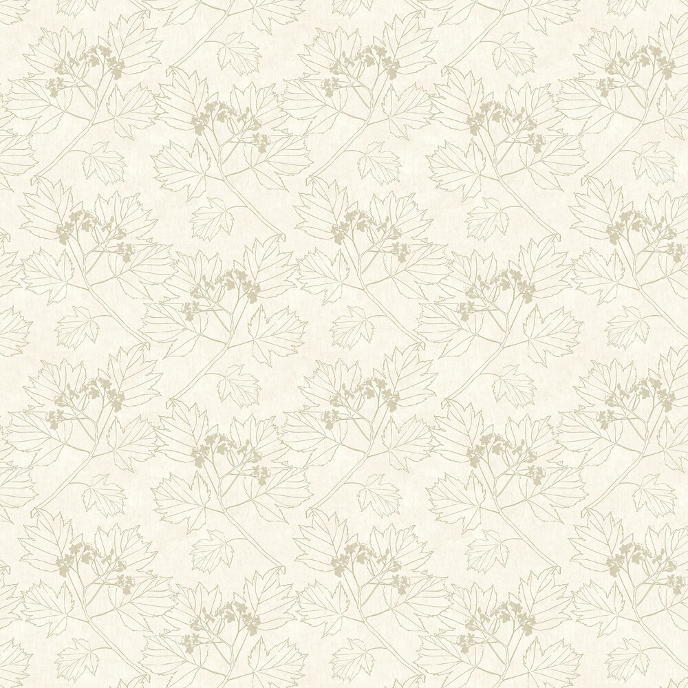 Elizabeth Ockford Nutley Cream / Gold Wallpaper - Product code: WP0080301