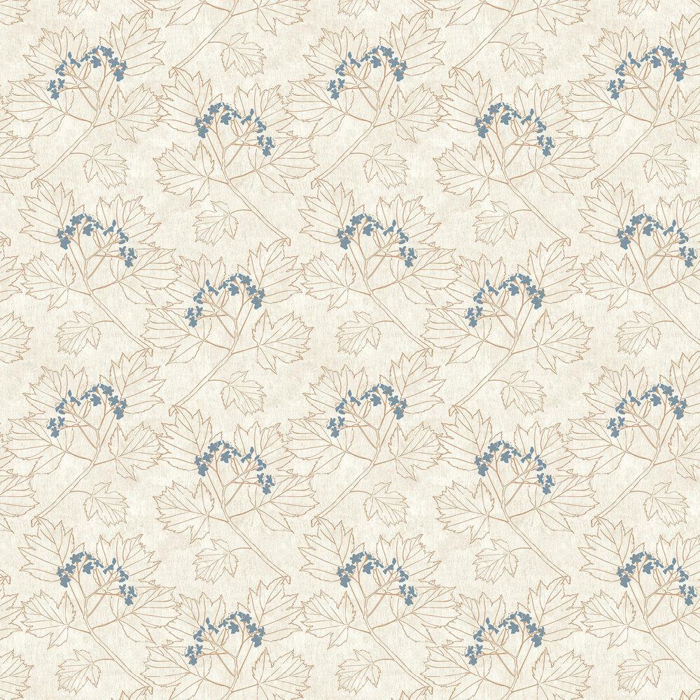 Elizabeth Ockford Nutley Beige / Copper Wallpaper - Product code: WP0080304