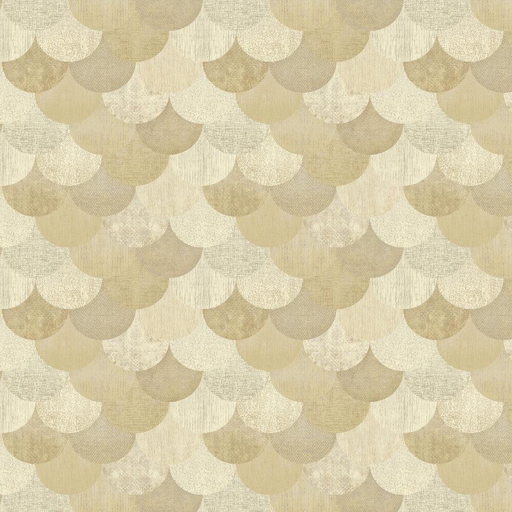 Paxhill Wallpaper - Cream / Gold - by Elizabeth Ockford