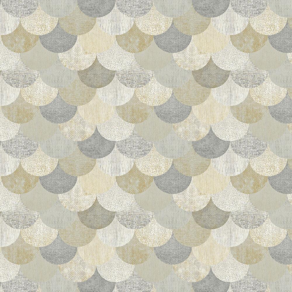 Elizabeth Ockford Paxhill Grey / Gold Wallpaper - Product code: WP0080405