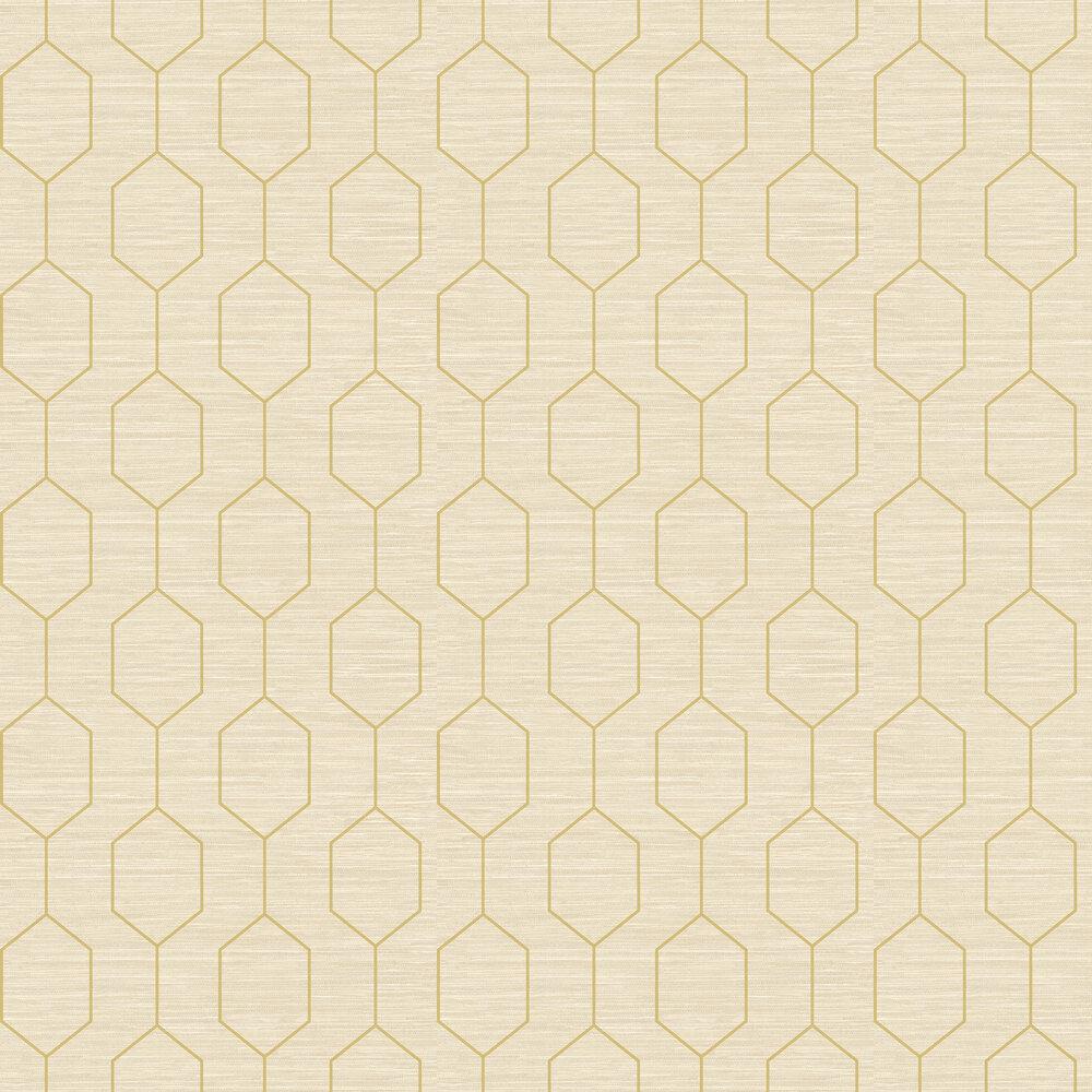 Kemptown Wallpaper - Beige / Green - by Elizabeth Ockford