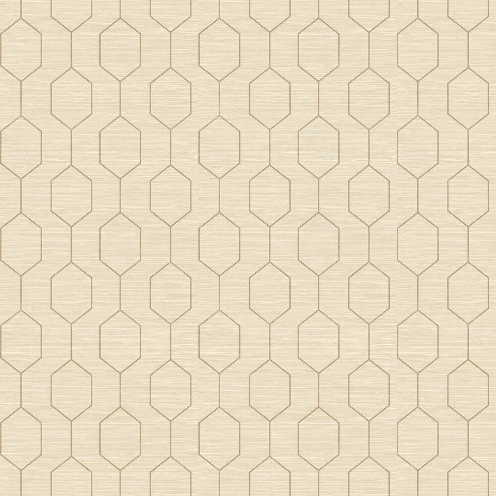 Kemptown Wallpaper - Beige / Brown - by Elizabeth Ockford