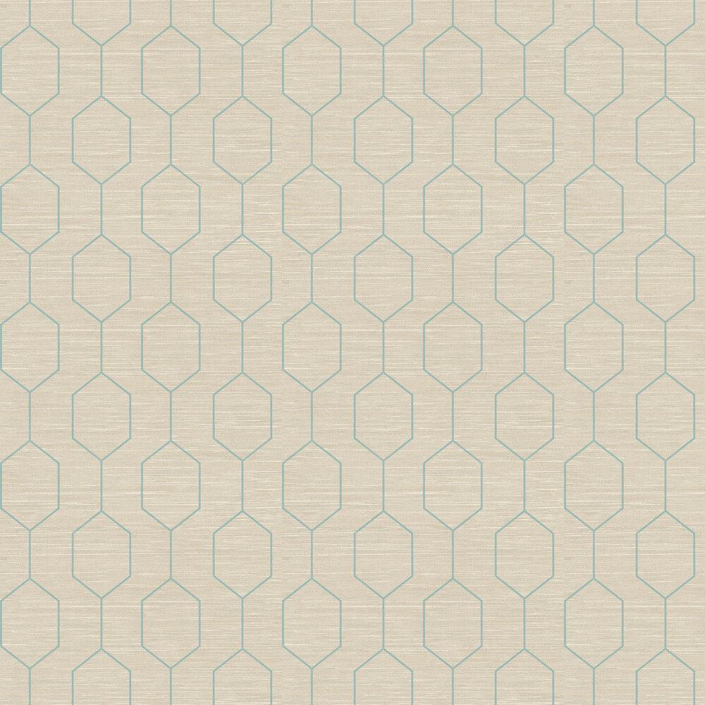 The Paper Partnership Kemptown Aqua / Grey Wallpaper - Product code: WP0080803