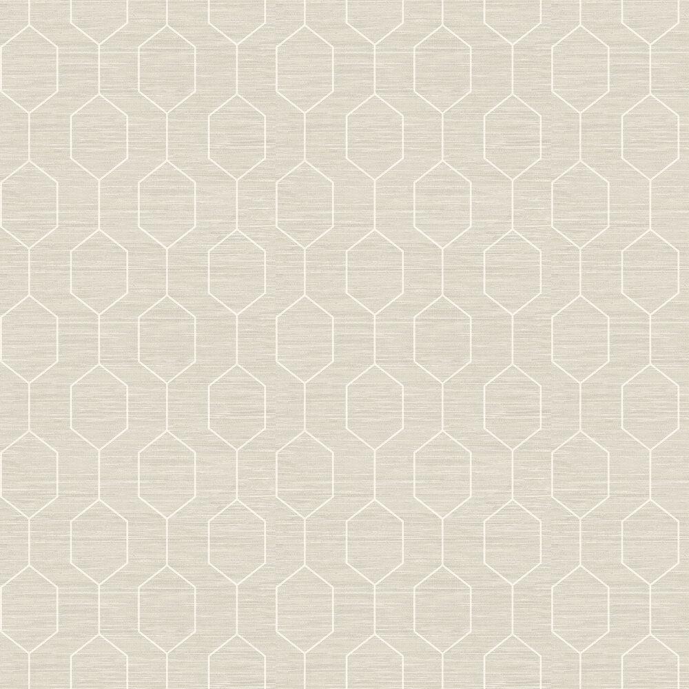 Kemptown Wallpaper - White / Stone - by Elizabeth Ockford