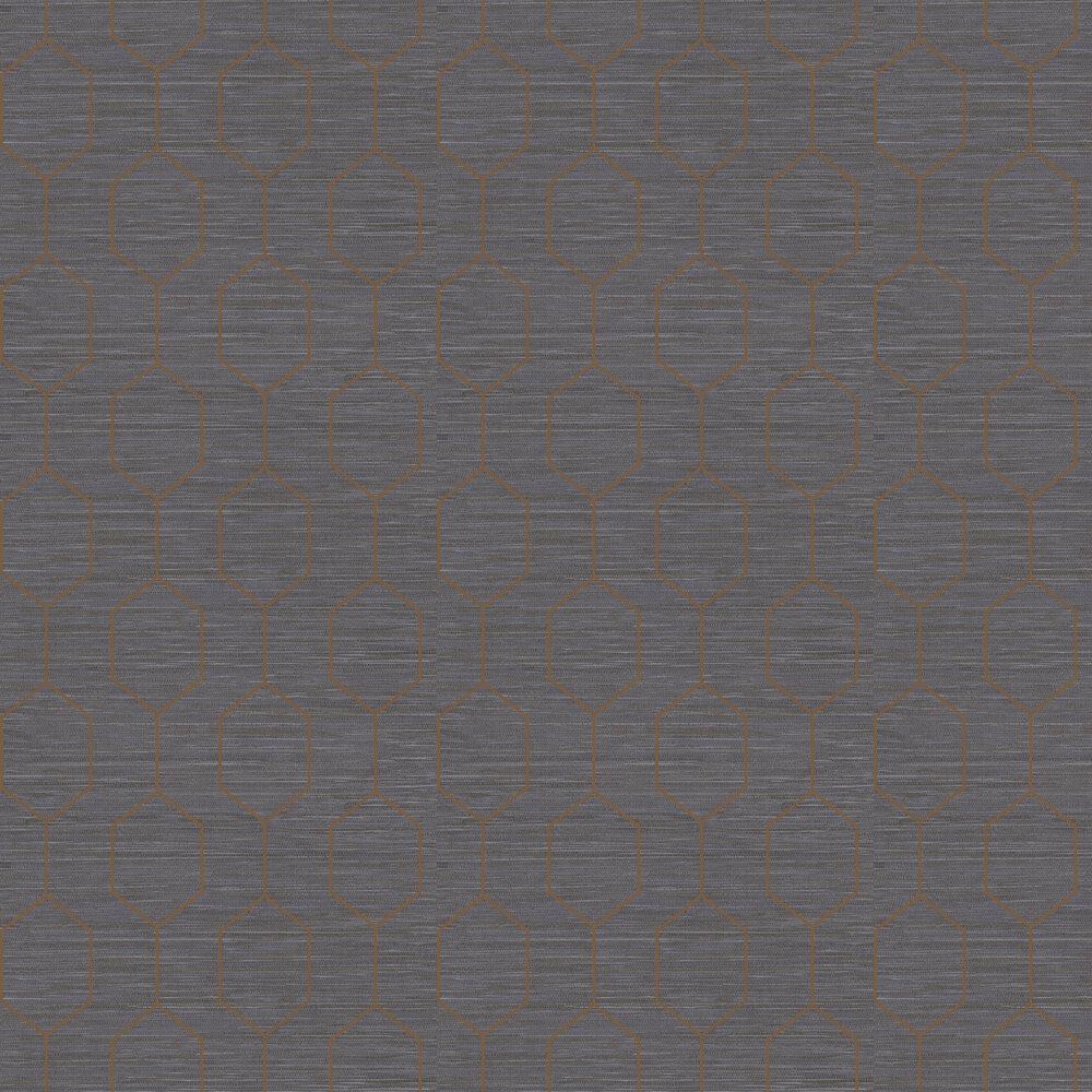 Elizabeth Ockford Kemptown Blue / Copper Wallpaper - Product code: WP0080806
