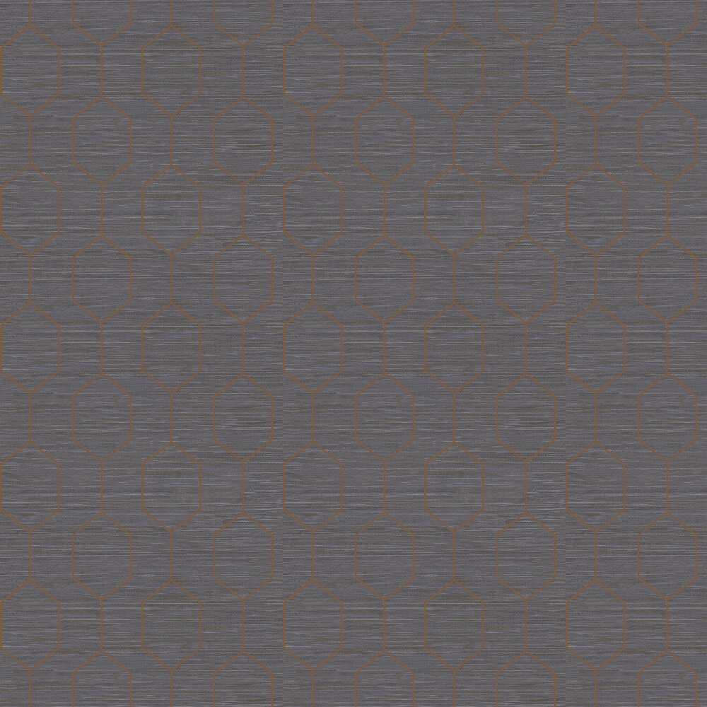 The Paper Partnership Kemptown Blue / Copper Wallpaper - Product code: WP0080806