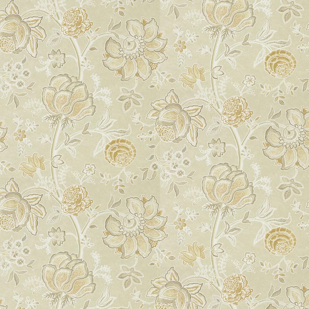 Shalimar Wallpaper - Linen / Sepia - by Sanderson
