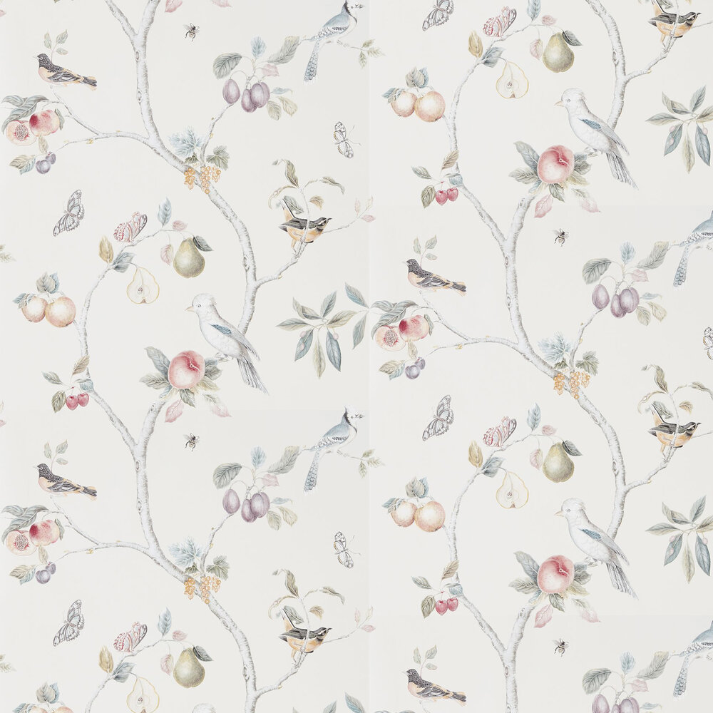 Sanderson Fruit Aviary Cream / Multi Wallpaper - Product code: 216314