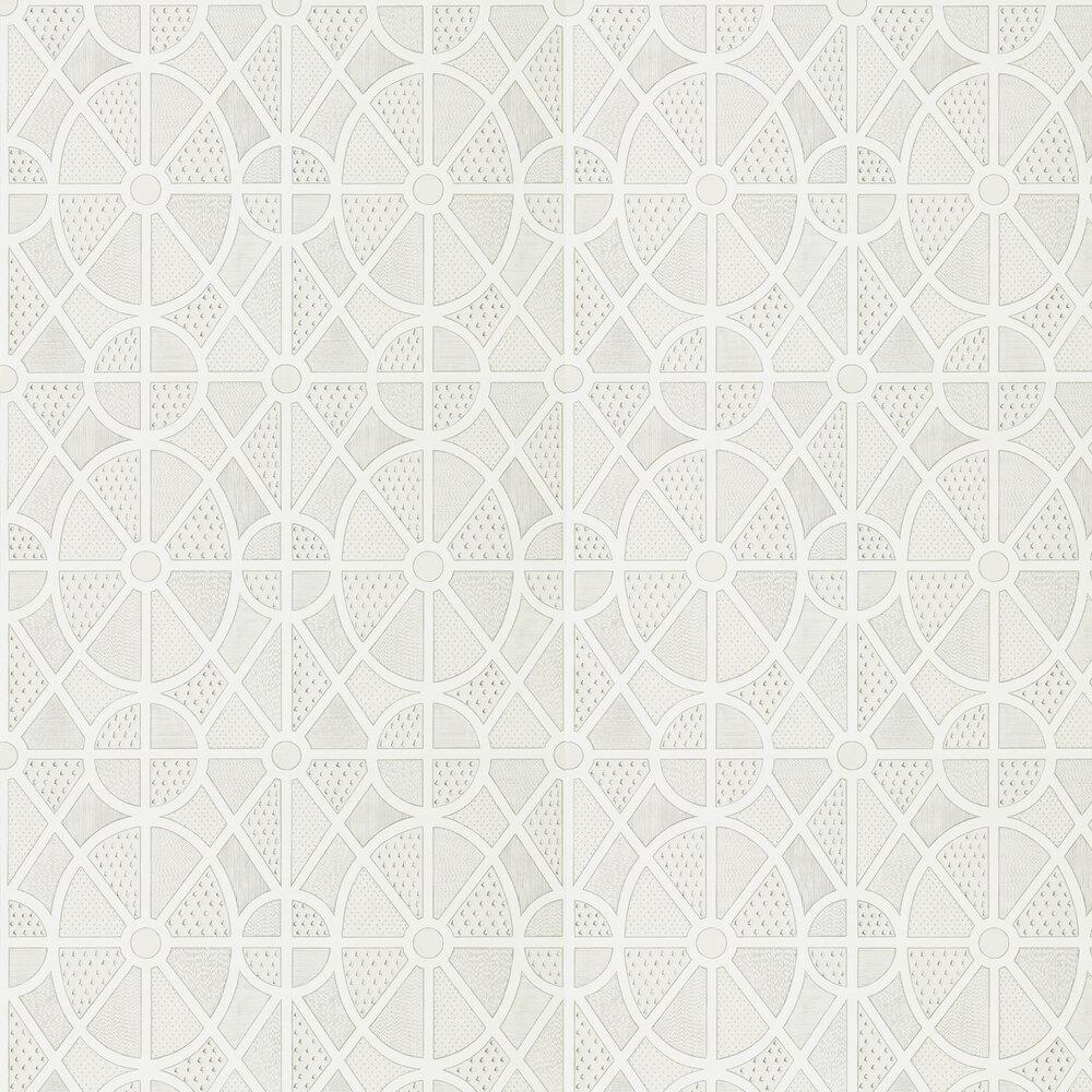 Garden Plan Wallpaper - Chalk - by Sanderson