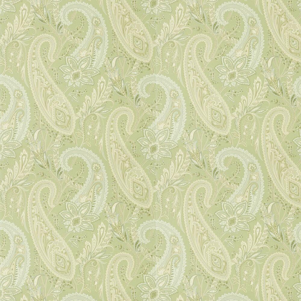 Cashmere Paisley Wallpaper - Garden Green - by Sanderson