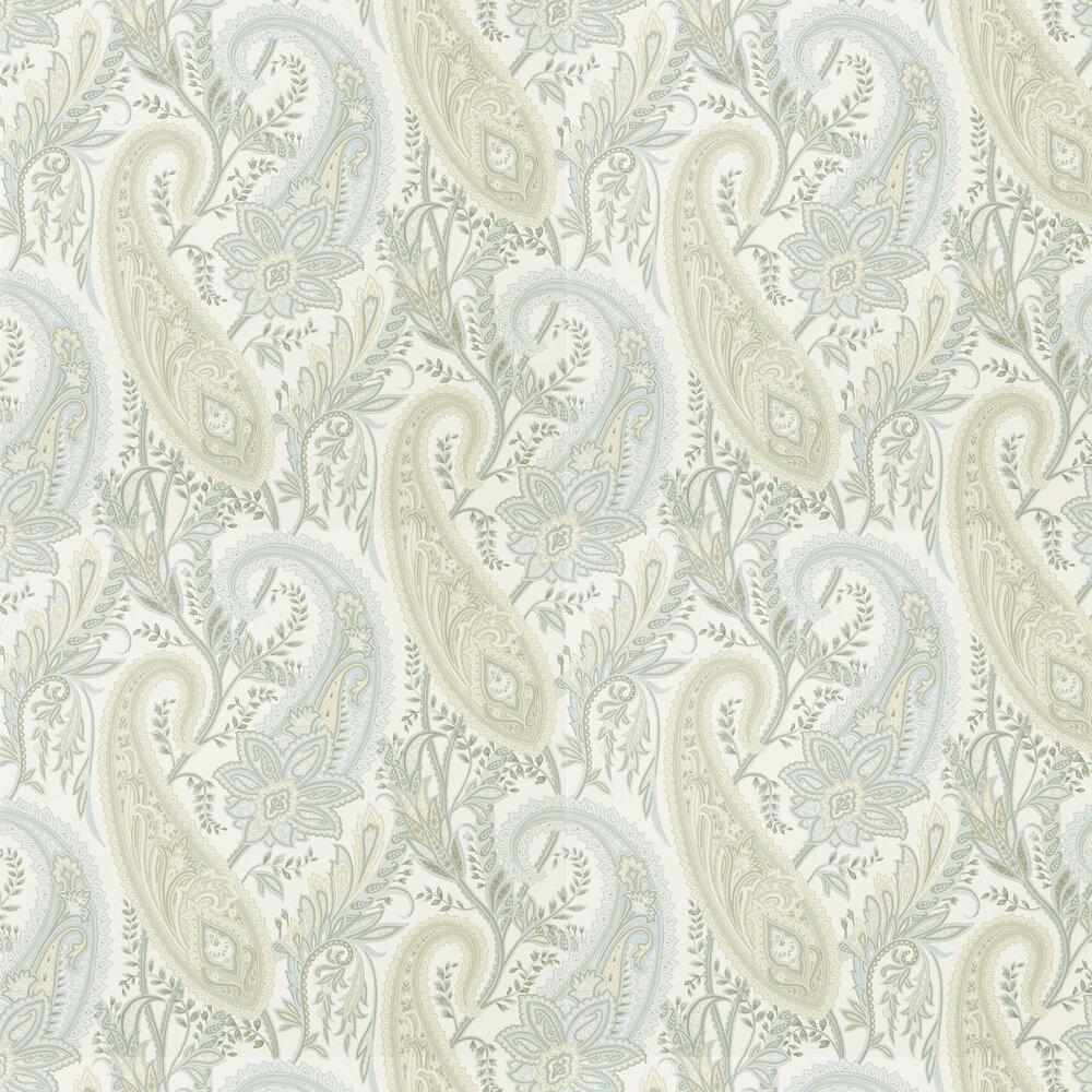 Cashmere Paisley Wallpaper - Duck Egg /Opal - by Sanderson
