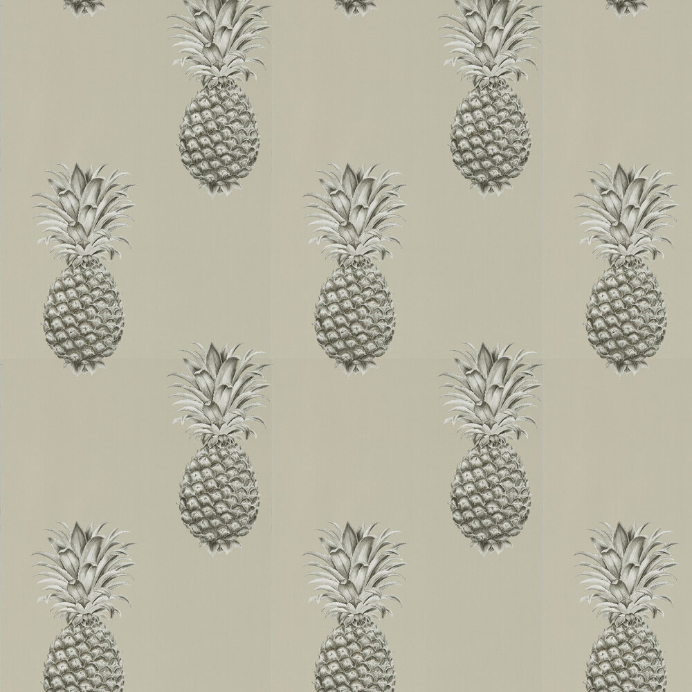 Sanderson Pineapple Royale Charcoal / Champagne Wallpaper - Product code: 216323