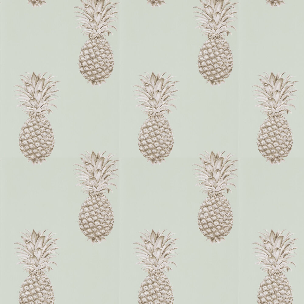 Sanderson Pineapple Royale Porcelain / Sepia Wallpaper - Product code: 216325