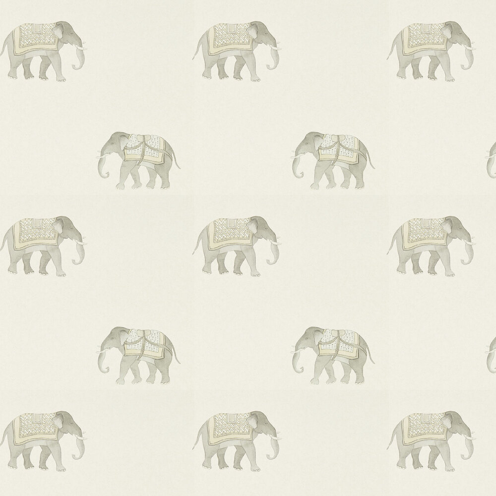 India Wallpaper - Silver / Ivory - by Sanderson
