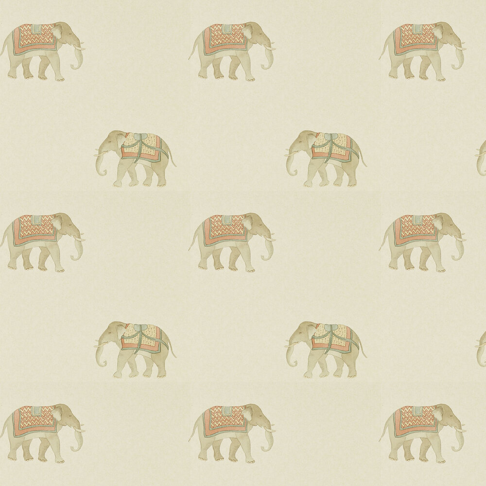India Wallpaper - Russet / Sand - by Sanderson