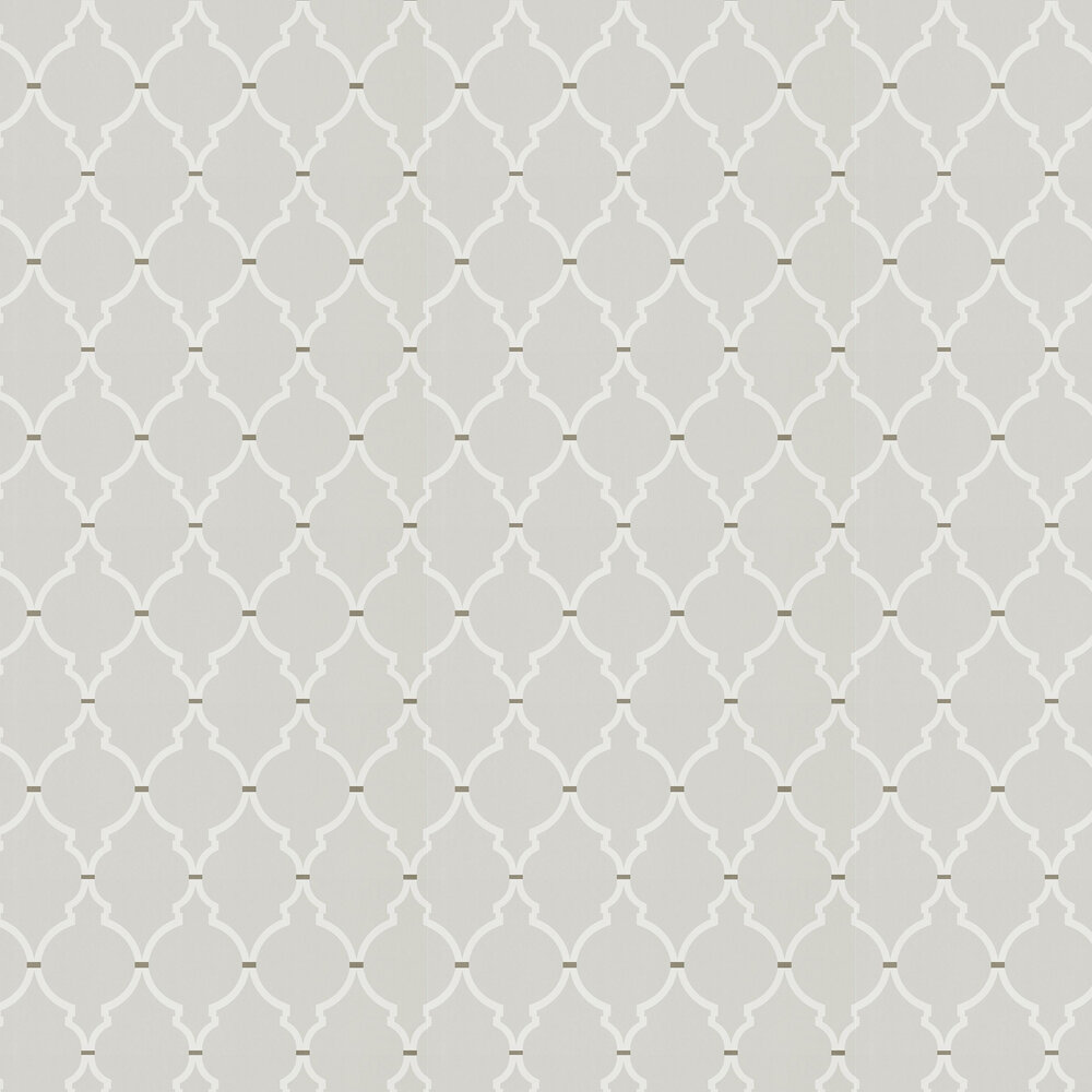 Empire Trellis Wallpaper - Silver / Calico - by Sanderson