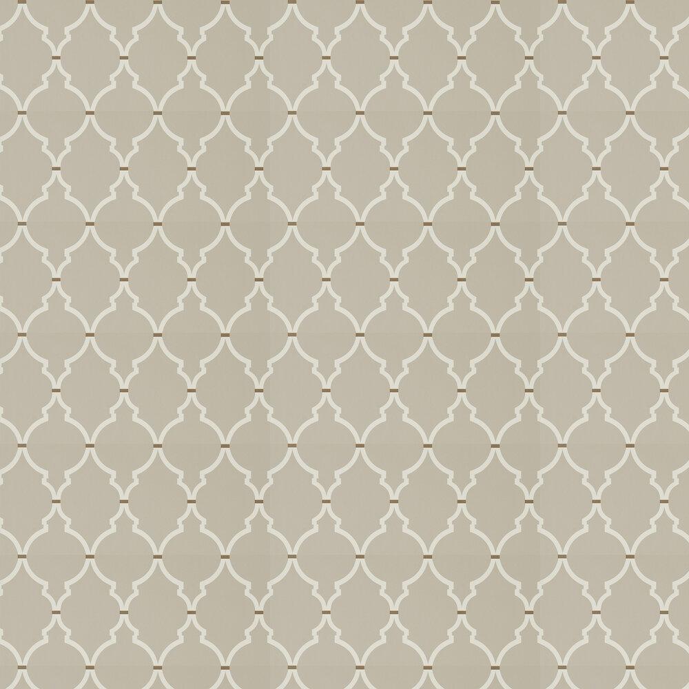 Empire Trellis Wallpaper - Birch / Cream - by Sanderson